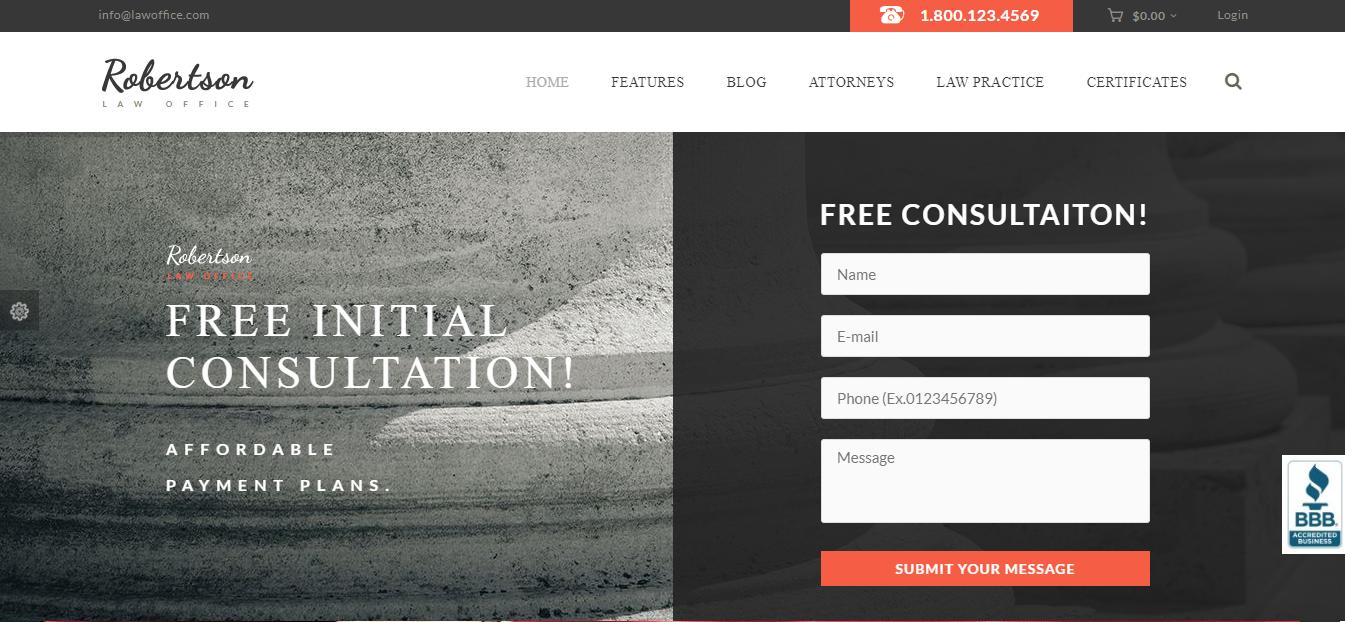 בניית אתר עורך דין